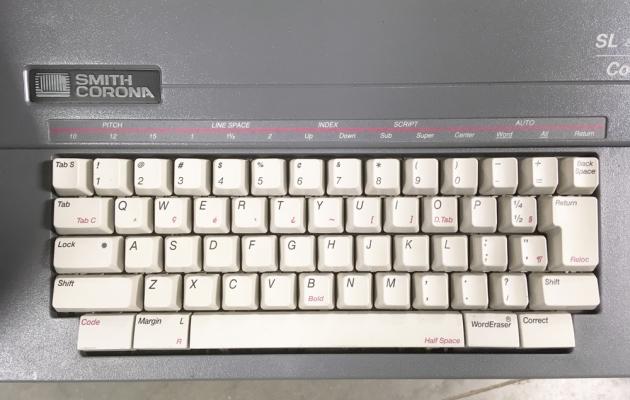 """Smith Corona """"SL 480"""" from the keyboard..."""