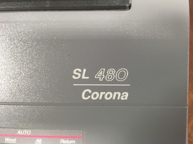 """Smith Corona """"SL 480"""" from the logo on the top..."""