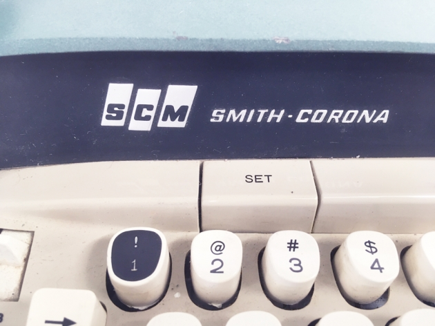 "Smith Corona ""Electra 110"" from the maker logo on the front..."