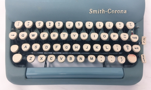 """Smith Corona """"Silent Super"""" from the keyboard..."""