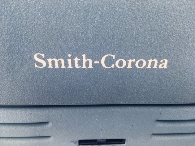 """Smith Corona """"Silent Super"""" from the back (detail)..."""