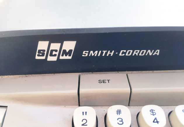 """Smith Corona """"Electra 110""""  from the maker logo on the front..."""