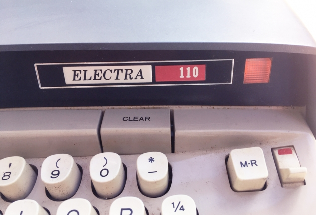 """Smith Corona """"Electra 110""""  from the model logo on the front..."""