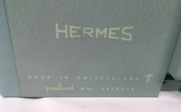 """Hermes """"2000"""" from the back (logo detail)..."""