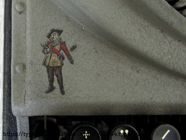 Decal showing mr Oliver Cromwell, British political leader from the 17th century.