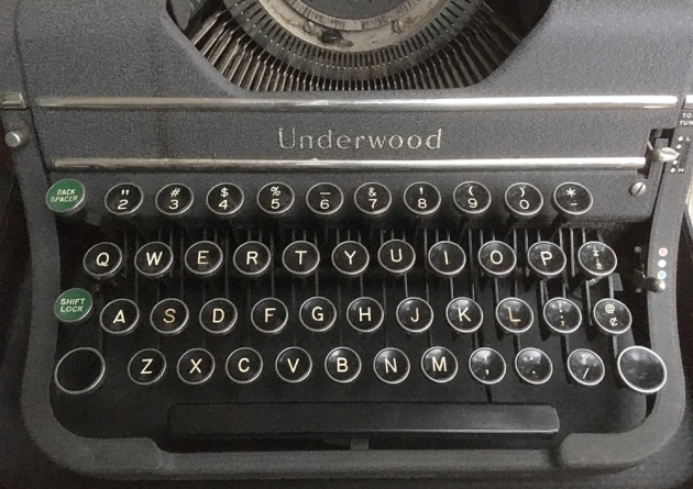 "Underwood ""Universal""  from the keyboard..."