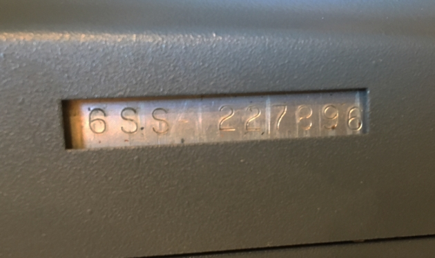 """Smith Corona """"Super Sterling"""" serial number location..."""