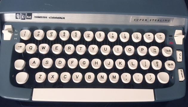 """Smith Corona """"Super Sterling"""" from the keyboard..."""