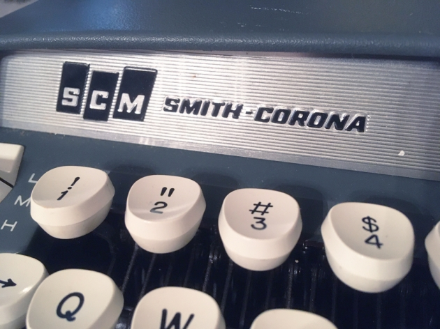 """Smith Corona """"Super Sterling"""" from the maker logo on the front..."""