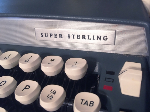 """Smith Corona """"Super Sterling"""" from the model logo on the front..."""