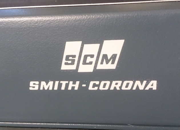 """Smith Corona """"Super Sterling"""" from the maker logo on the back..."""
