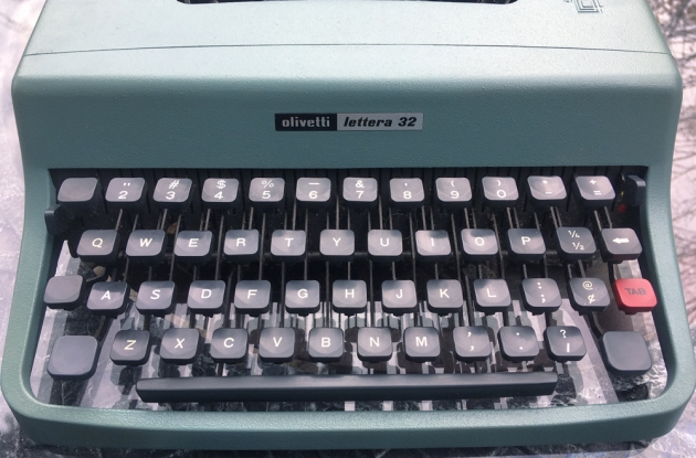 """Olivetti """"Lettera 32"""" from the keyboard..."""