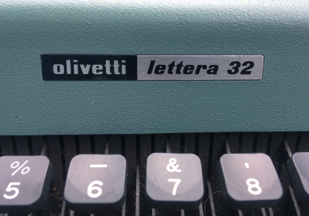 """Olivetti """"Lettera 32"""" from the logo on the top..."""