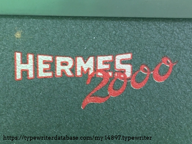 TWDB - HERMES 2000 #2006999# - Decal front