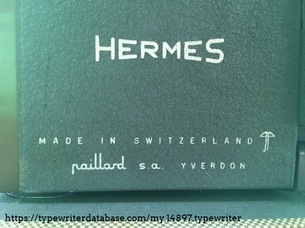 TWDB - HERMES 2000 #2006999# - Decal back