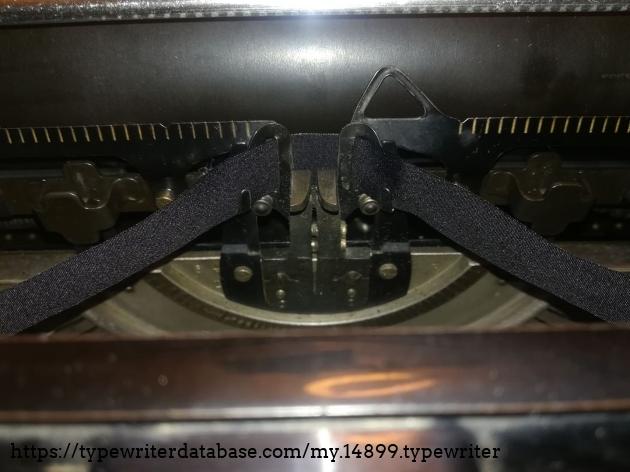 note: ribbon reverse button it only works if it is in it ribbon spool