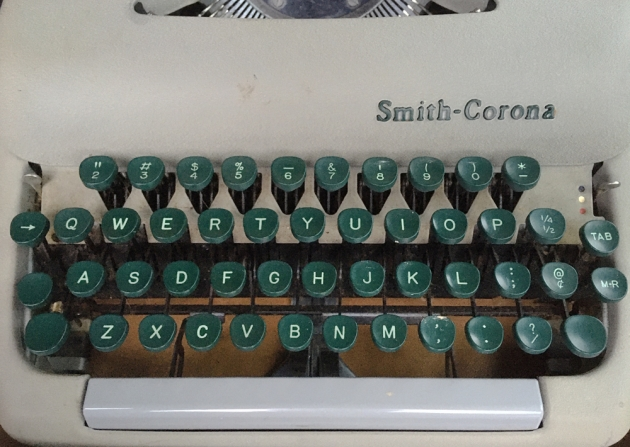 "Smith Corona ""Sterling""  from  the keyboard...."