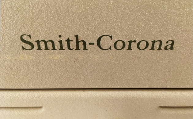 """Smith Corona """"Sterling""""  from  the back (detail)...."""