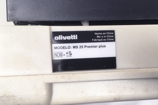 "Olivetti ""MS 25 Premier plus"" from the back (detail)..."
