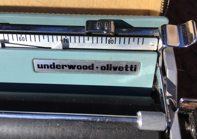 "Olivetti ""Lettera 22""  from the maker logo on the top..."