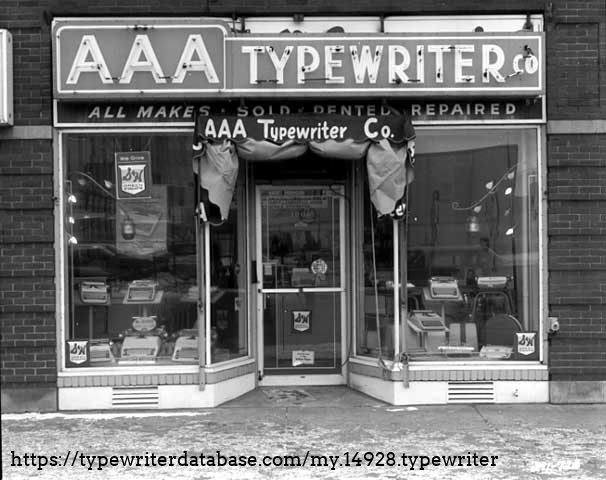 A 1964 photograph of the business that I believe sold this machine.