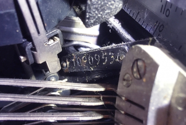 "Underwood ""Universal"" serial number location..."