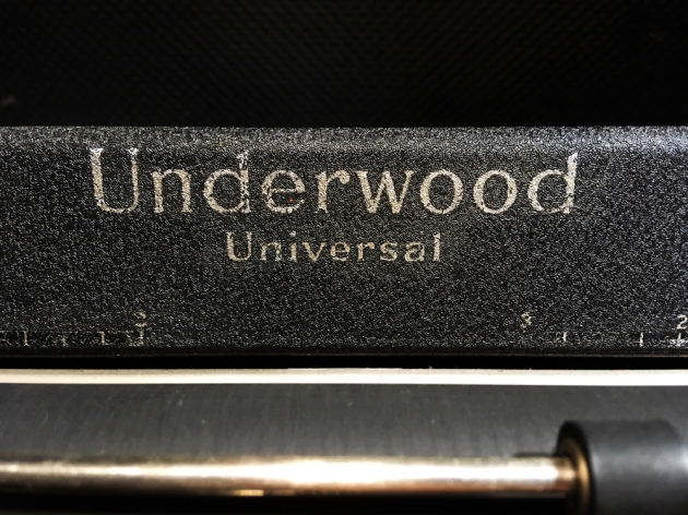 "Underwood ""Universal""  from the logo on the top..."