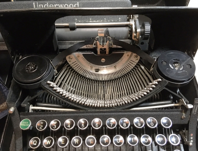 "Underwood ""Universal""  from under the hood..."