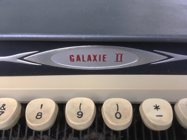 """Smith Corona """"Galaxie II""""  from the model logo on the front..."""