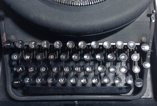 """Remington """"Noiseless 7"""" from the keyboard..."""
