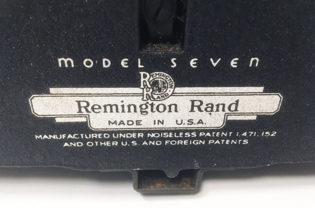 """Remington """"Noiseless 7"""" from the  back... (detail)"""