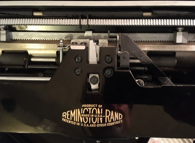 """Remington """"Model 1"""" from the back..."""