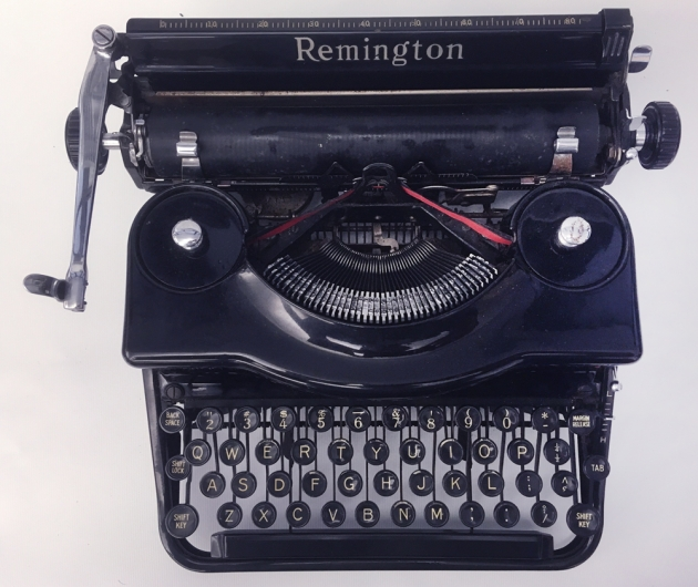 """Remington """"Model 1"""" from the top..."""