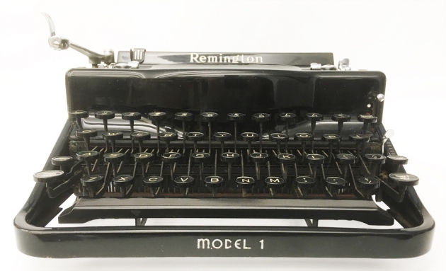 """Remington """"Model 1"""" from the front..."""