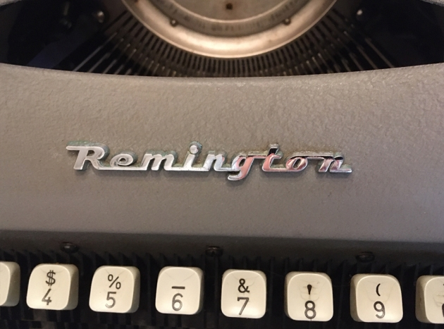 """Remington """"Travel-Riter"""" from the maker logo on the front..."""