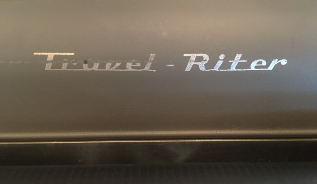 """Remington """"Travel-Riter"""" from the model logo on the top..."""