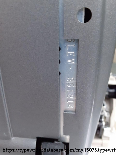 SCM Electra 120 serial number