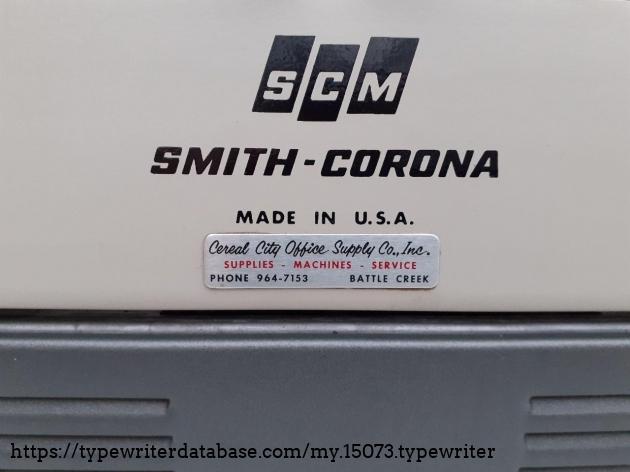 SCM Electra 120 office supply sticker