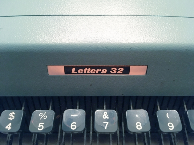 """Olivetti """"Lettera 32""""  from the model logo on the top..."""