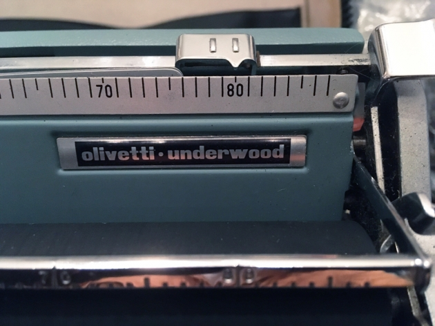 """Olivetti """"Lettera 32""""  from the maker logo on the top..."""