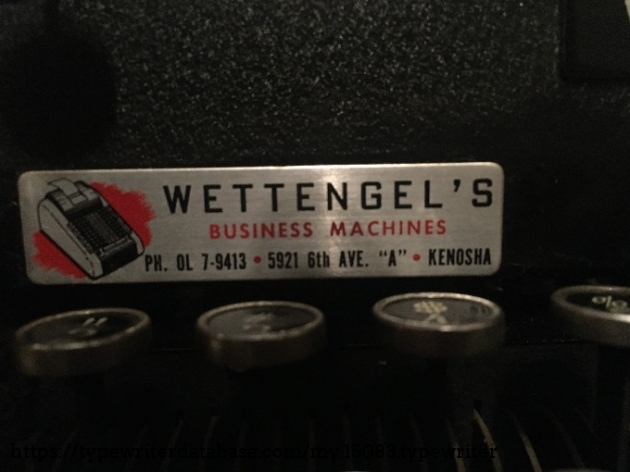 I got this machine in Kenosha. It hasn't traveled too far from this shop actually.