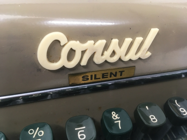 "Consul ""Silent"" from the model/maker logo on the front..."