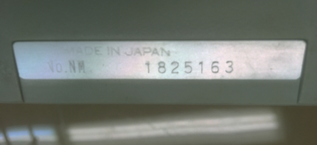 "1970 Royal ""(Silver-Seiko) Sprite"" serial number location..."