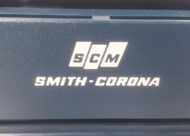 """Smith Corona """"Sterling Cartridge""""  from the back (detail)..."""