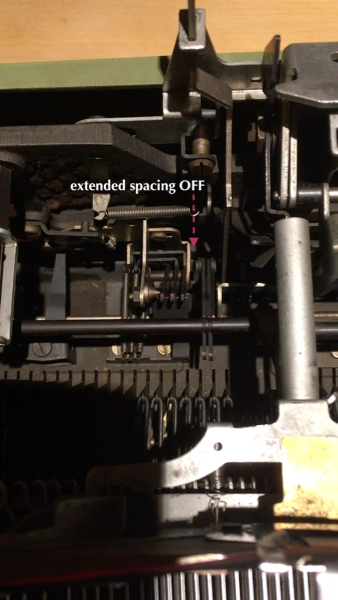Here you can see the mechanism for the extended spacing option.