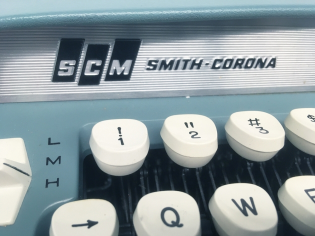 "Smith Corona ""Sterling 12"" from the maker logo on the front..."