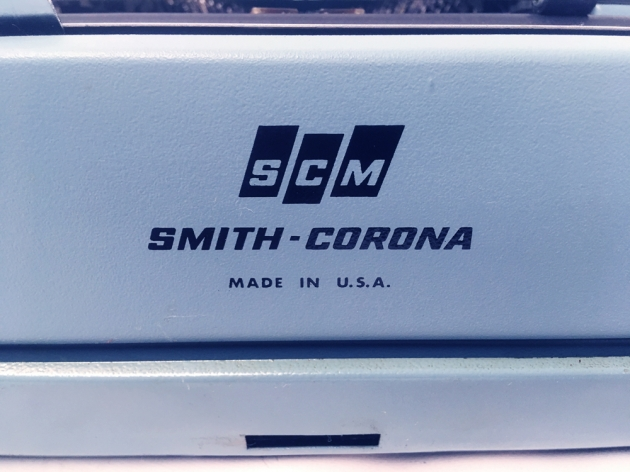 "Smith Corona ""Sterling 12"" from the back (detail)..."