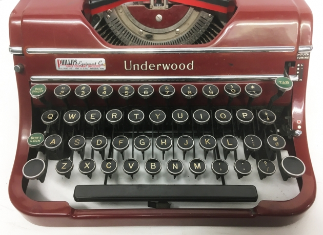 """Underwood """"Champion""""  from the keyboard..."""