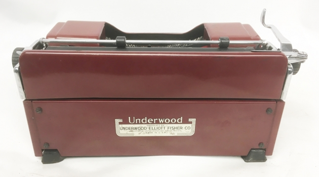 """Underwood """"Champion""""  from the back..."""
