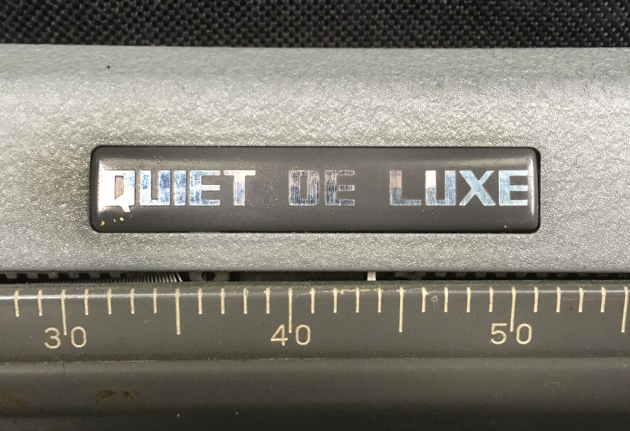 """Royal """"Quiet De Luxe"""" from the model logo on the top..."""